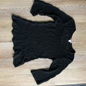 Black knit coverup